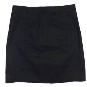 Ann Taylor 8 Skirt Pencil Mini Black Lined Stretch
